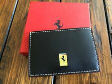 Genuine Ferrari BLK Leather Card Holder Extremely RARE Made in Italy NEW in BOX