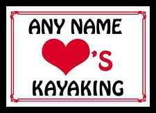 Love Heart Kayaking Personalised Mousemat