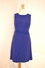 L K BENNETT ELEGANT BLUE FITTED PENCIL PARTY WEDDING OCCASION DRESS UK14 VGC