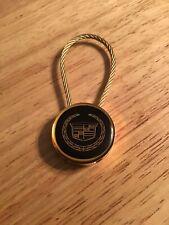 Vintage Cadillac Gold Tone Key Ring Chain Frank Kent Cadillac Ft. Worth Texas