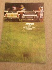 Fiat 128 Sport Coupe 1300 SL 1972-75 original UK Sales Brochure June 1974