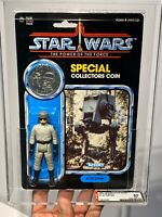 AFA 85 Kenner 1985 Star Wars AT-ST Driver POTF 92-back Clear NM+ (85-85-80)