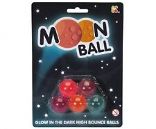 MOON BALL - EXTREME BOUNCE FAST SPIN LIGHT WEIGHT GLOW IN THE DARK 5 PACK SC114