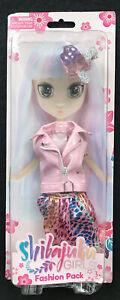 Shibajuku Girls Fashion Pack 2016 Pink Pleather Belted Vest Metallic Pink Skirt