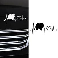 17.8*7.6CM Pomeranian Heartbeat Dog Car Stickers Vinyl Decal Black !