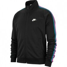 New Nike Men's Sportswear N98 Knit Warm-Up Jacket Sz M Black AR2244-011 NWT