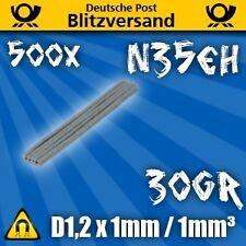500x Neodym Magnet Scheibe D1,2x1 N35EH  Modellbau Geocaching starke Minimagnete