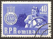 Scott # 1536 - 1963 -  ' Tractor Driver & FAO Emblem '