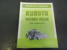 Kubota Model Fl1020 Fl1270 Rotary Tiller Operators Manual 70741 5971 1