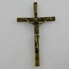 10442 10PCS God Jesus Weeping Prayer Cross Pendant Charm Vintage Bronze Tone