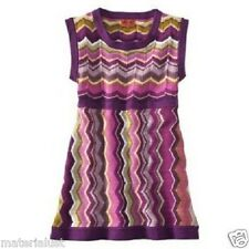 NWT Missoni for Target Girl's Tunic Sweater Zig Zag Dress Passione XS 4T-5T