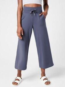 ATHLETA Balance Wide Leg Crop Pant  M Medium   Medieval Violet #657556 NEW