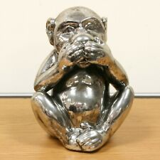 "Monkey Silver Antique Silver aged look ""Speak No Evil"" Doubles up as Money Box"