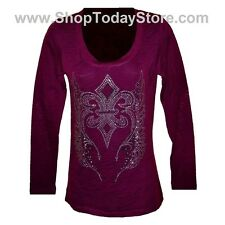 T Shirt XXXL 3XL - Women Woman Lady Motorcycle Biker Gothic Long Sleeve Burn Out