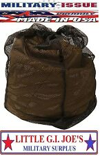 NEW USMC Mesh Storage Bag For MSS Propper 3 Season Sleep System Mesh Storage Bag