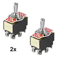 Kippschalter Wasserdicht Ein-Aus 2polig mit Alublende Schraubanschlüsse 10A 230V