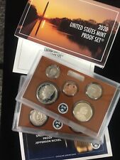 2020 US Mint ANNUAL 11 Coin Proof Set Original Box w/ COA Complete w/ W Nickel