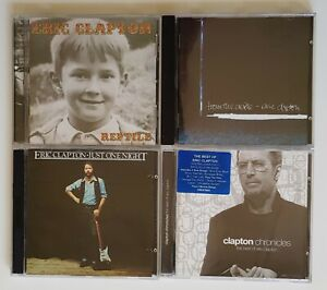 Eric Clapton CD Bundle: From the Cradle, Just One Night, Chronicles and Reptile