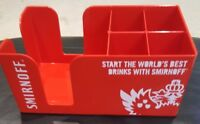 SMIRNOFF RED ACRYLIC BAR CADDY BRAND NEW ITEM PUB/BAR/MANCAVE