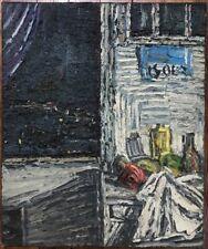 Lyon Cottavoz Fusaro Atelier du Peintre la Nuit Tableau signé Claude Jouhanneau