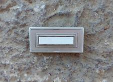 beleuchtbarer Aufputz 1fach Klingeltaster Klingelplatte Silber