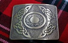 TORQUE WITH CELT PEWTER BELT BUCKLE CHROME FINISH VIPKILTS Quality KILT BUCKLE
