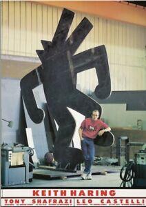 Original Vintage Poster Keith Haring 1st Sculpture Exhibition Shafrazi Castelli
