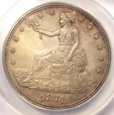 1874 PROOF Trade Silver Dollar T$1 - Certified ANACS PR60 Details (PF60)