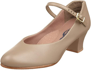 """Tan Capezio 550 character stage shoes  1.5"""" heel  - all sizes"""