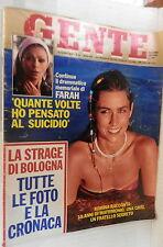 GENTE 15 agosto 1980 Strage Stazione di Bologna Farah Diba Romina Power Carter