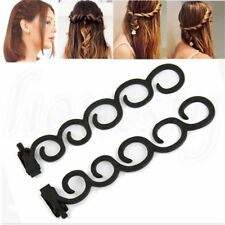 2Pcs Waterfall Twist Roller French Braid Twist Back Hair Styling Tool Clip New