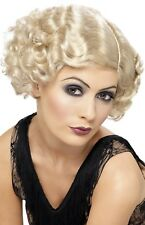 Ladies 1920s 20s Blonde Flapper Grace Fancy Dress Costume Outfit Accessory Wig
