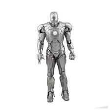 Silver Iron Man Mark 2 MARVEL Avengers Armor Action Figure Model Statue Toy Gift