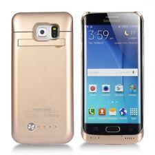 Samsung Galaxy S6 Borde Estuche con Cargador De Batería 4200mAh paquete delgado de alimentación de respaldo