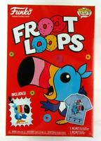 Funko Pop! Tees Large Froot Loops Cereal Box w/ Mini Pop Toucan Sam New Sealed