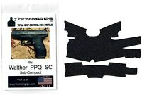 Tractiongrips rubber grip tape cover for Walther PPQ SC Sub-Compact /Black Grips