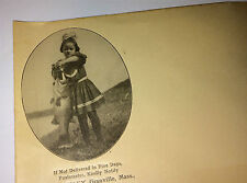 Antique Envelope, R. B. Cooley! Printed Photo of Girl & Large Fish! Old Ephemera
