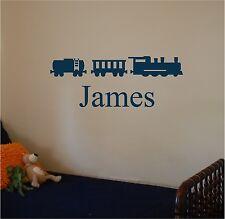 Train & Personalized Name Wall Art Wall Decor Boys Bedroom Sticker
