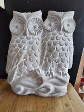 2 x Garden Wall Art / Wallhangers A Single & Pair of Owls New BNIB