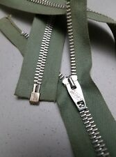 """51-ZIPPERS Vtg""""CONMATIC USA CONMAR""""SLIDER#5Metal AULM.26""""Separating/L.OLV/COTTON"""