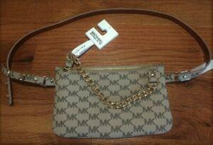 Michael Kors MK Waist Belt Pouch Bag Wallet  Size L XL New