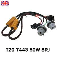 2Pcs T20 7443 W21/5W 580 Canbus LED Turn Signal Flash Control Load Hyper