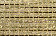 "Fender Beige Brown Gold Strip 30x58"" grill cloth fabric speaker cabinet"