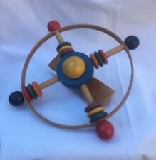 Vintage Baby Toddler Wood Crib Toy Beads