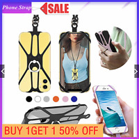 Phone Case - Silicone Lanyard Case Cover Holder Sling Neck Strap For Cell Phone=