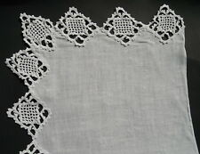 """Vintage Piano Scarf Mantle 3 Sided Crochet Edge Doily 82"""" long 22"""" wide"""