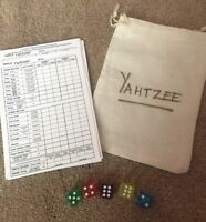 Yahtzee Dice And Score Cards Stocking Filler Travel Game