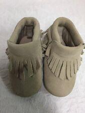 Babies Size 3 Leather Upper Booties - Beige