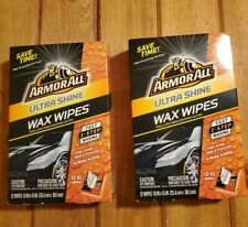 24 Count Armor All Ultra Shine Wax Wipes Fast 1 Step Car Waxing Detailing Clean