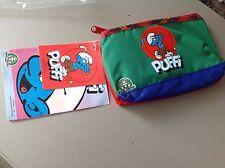 Vintage Porta Penne Astuccio School Pen Case PUFFI SMURFS official PEYO1993